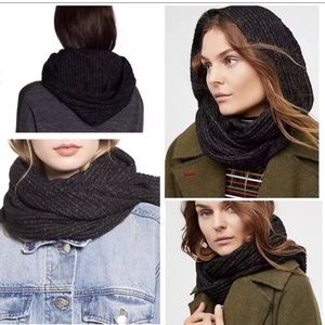 Free People Hooded Infinity scarf